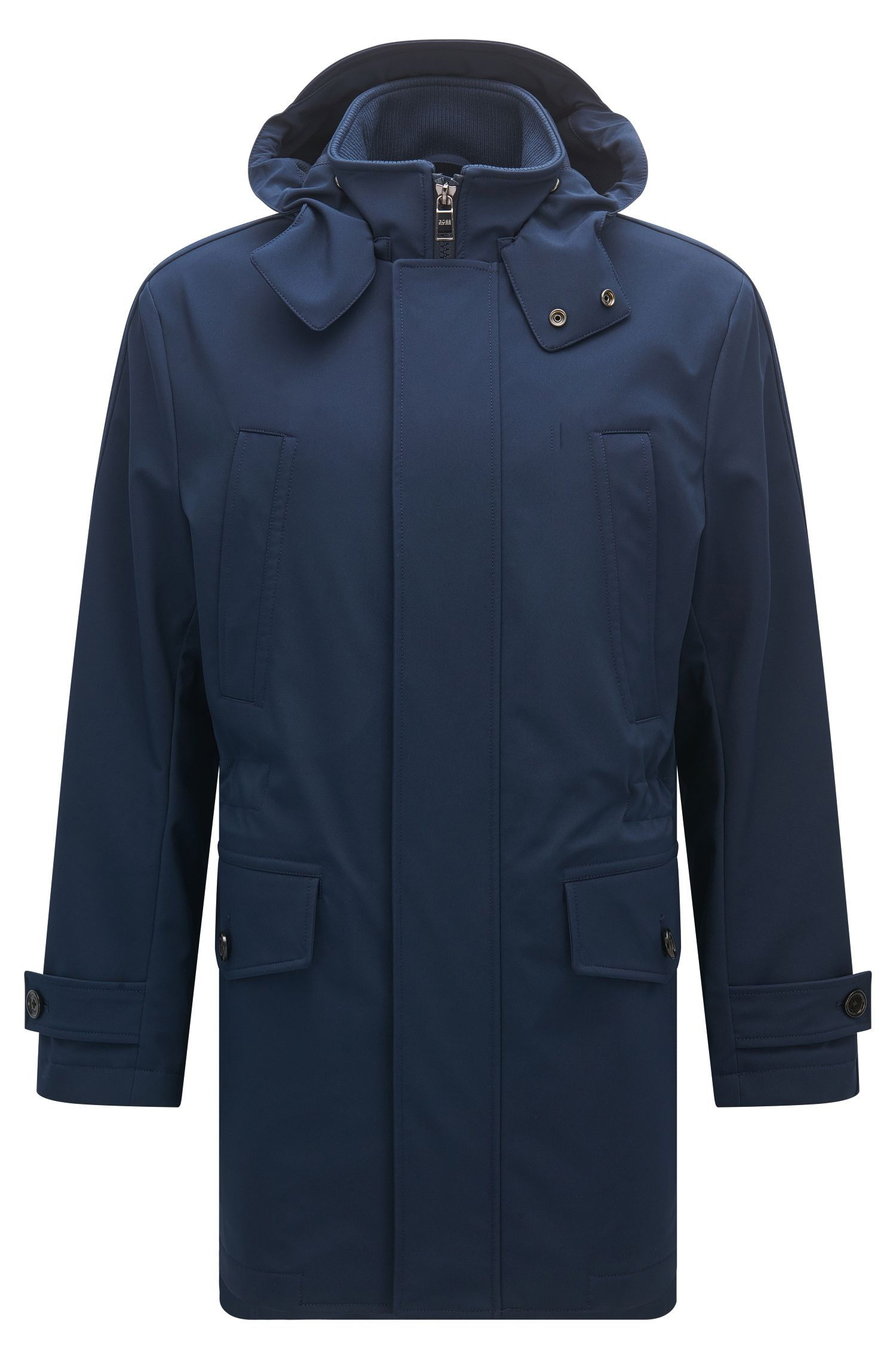 Nylon Softshell Parka | Cobalt, Dark Blue