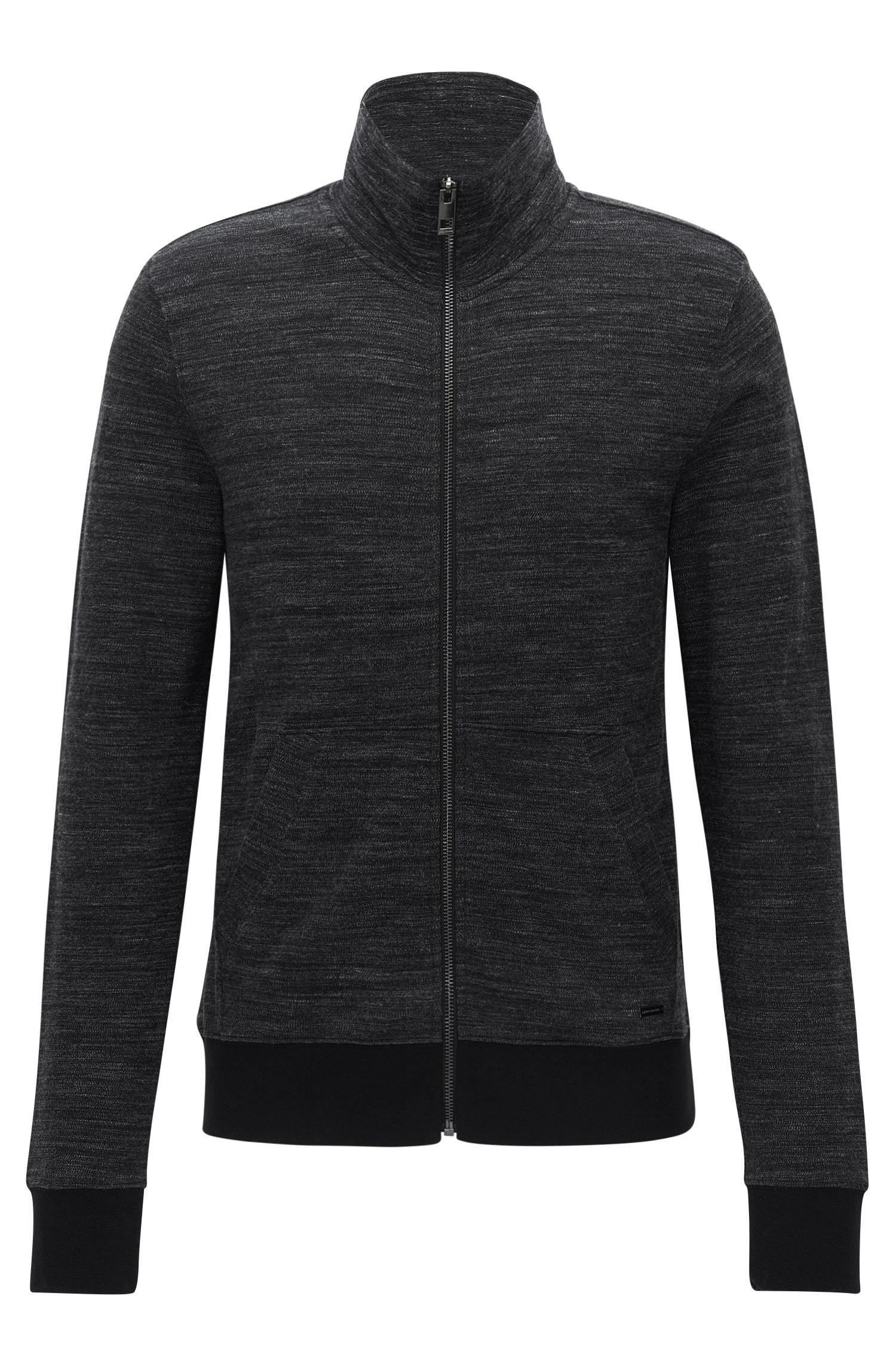 Stretch Cotton Jersey Zip Jacket | Zayan
