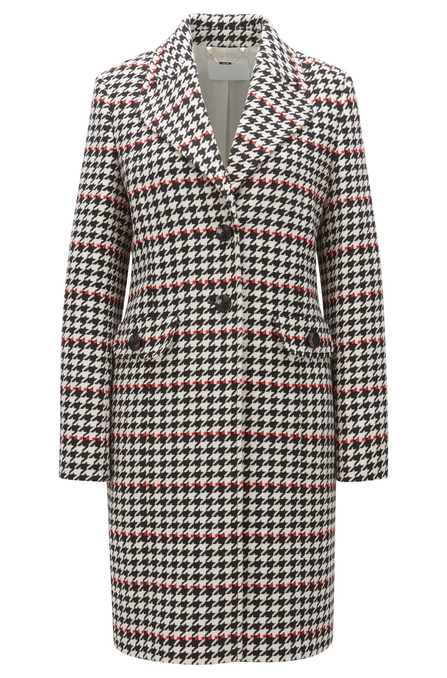 Houndstooth Coat | Cunarda