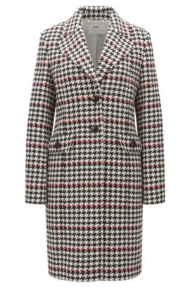 'Cunarda' | Houndstooth Coat, Patterned