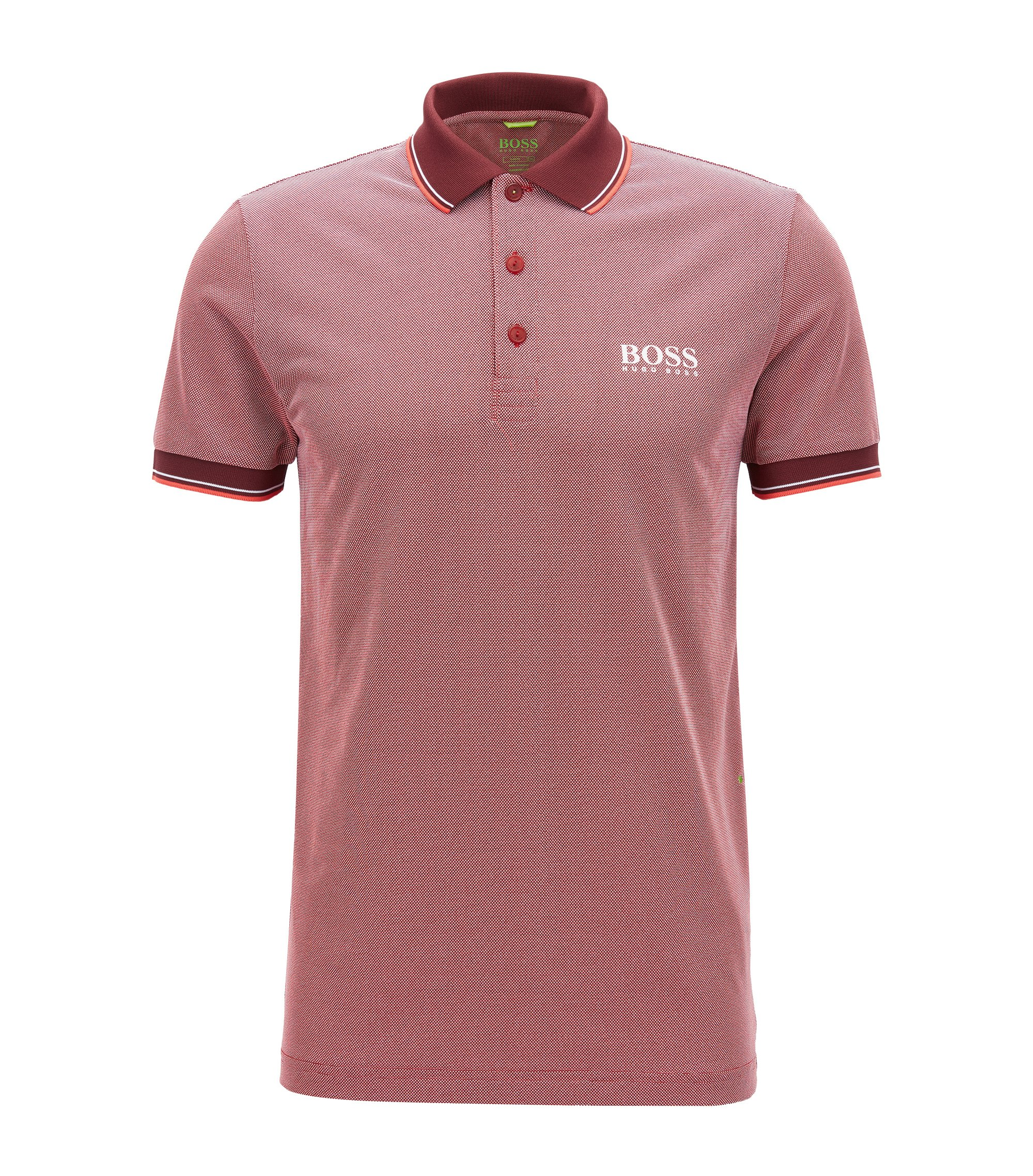 Graphic Polo Shirt, Slim Fit | Paule Pro, Red