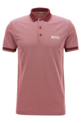 'Paule Pro' | Slim Fit, Graphic Polo, Red