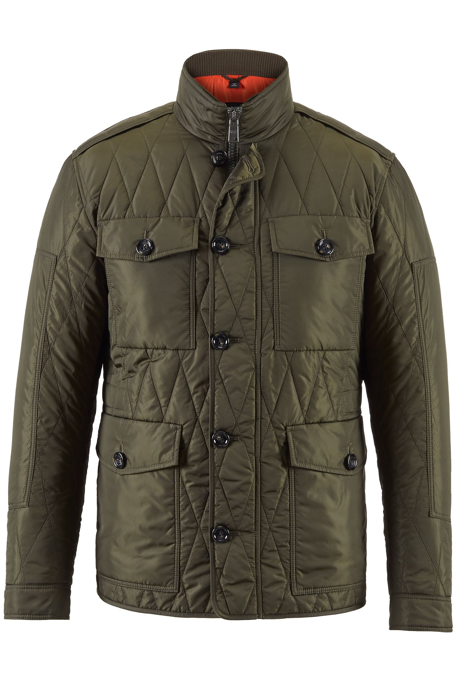 Water-Repellent Quilted Field Jacket | Cloud