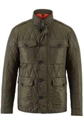 Water-Repellent Quilted Field Jacket | Cloud, Open Green