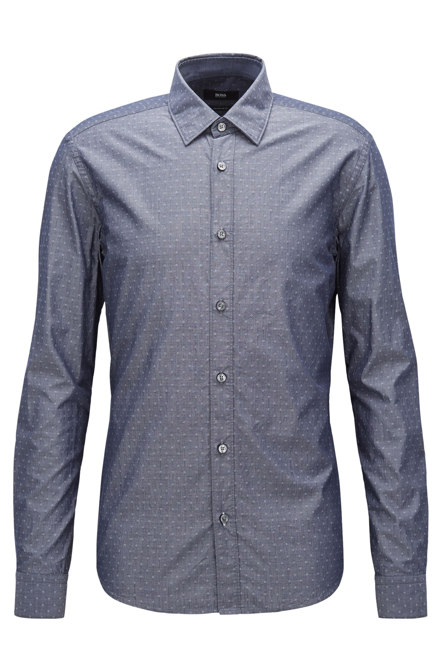 Diamond Dobby Cotton Button Down Shirt, Regular Fit | Lance