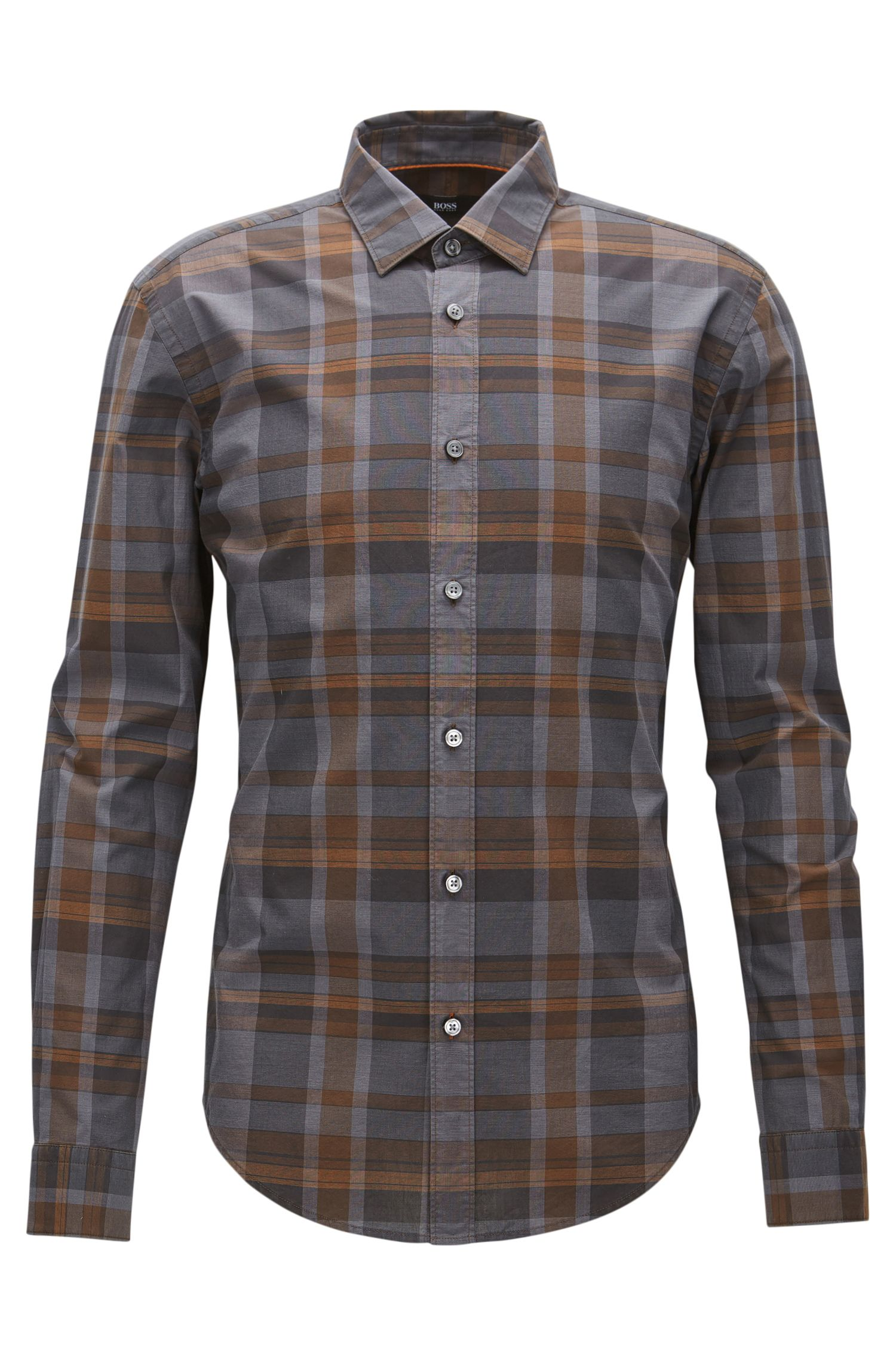 'Ronni' | Slim Fit, Plaid Cotton Button Down Shirt