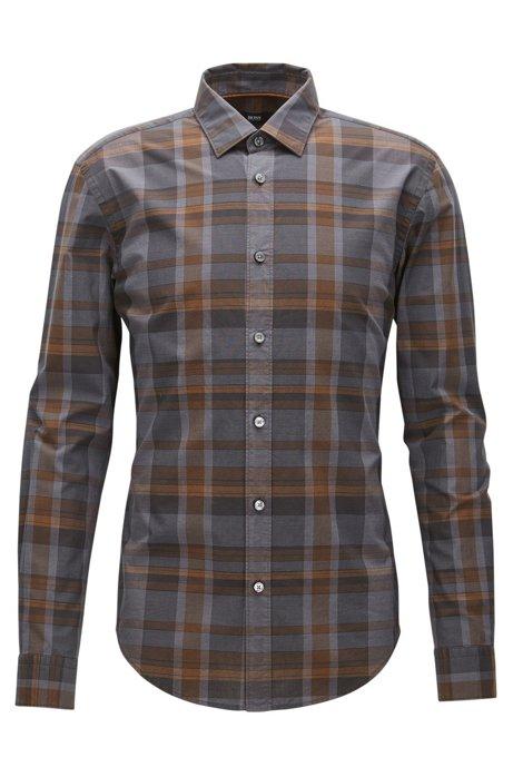 996437d4a BOSS - Plaid Cotton Button Down Shirt, Slim Fit | Ronni