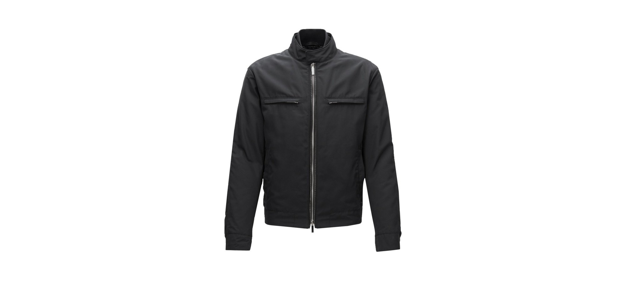 Mercedes-Benz Nylon Moto Jacket | Chead, Black
