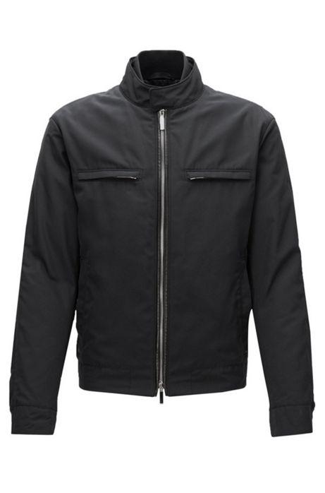 Mercedes benz nylon moto jacket chead for Mercedes benz leather jacket