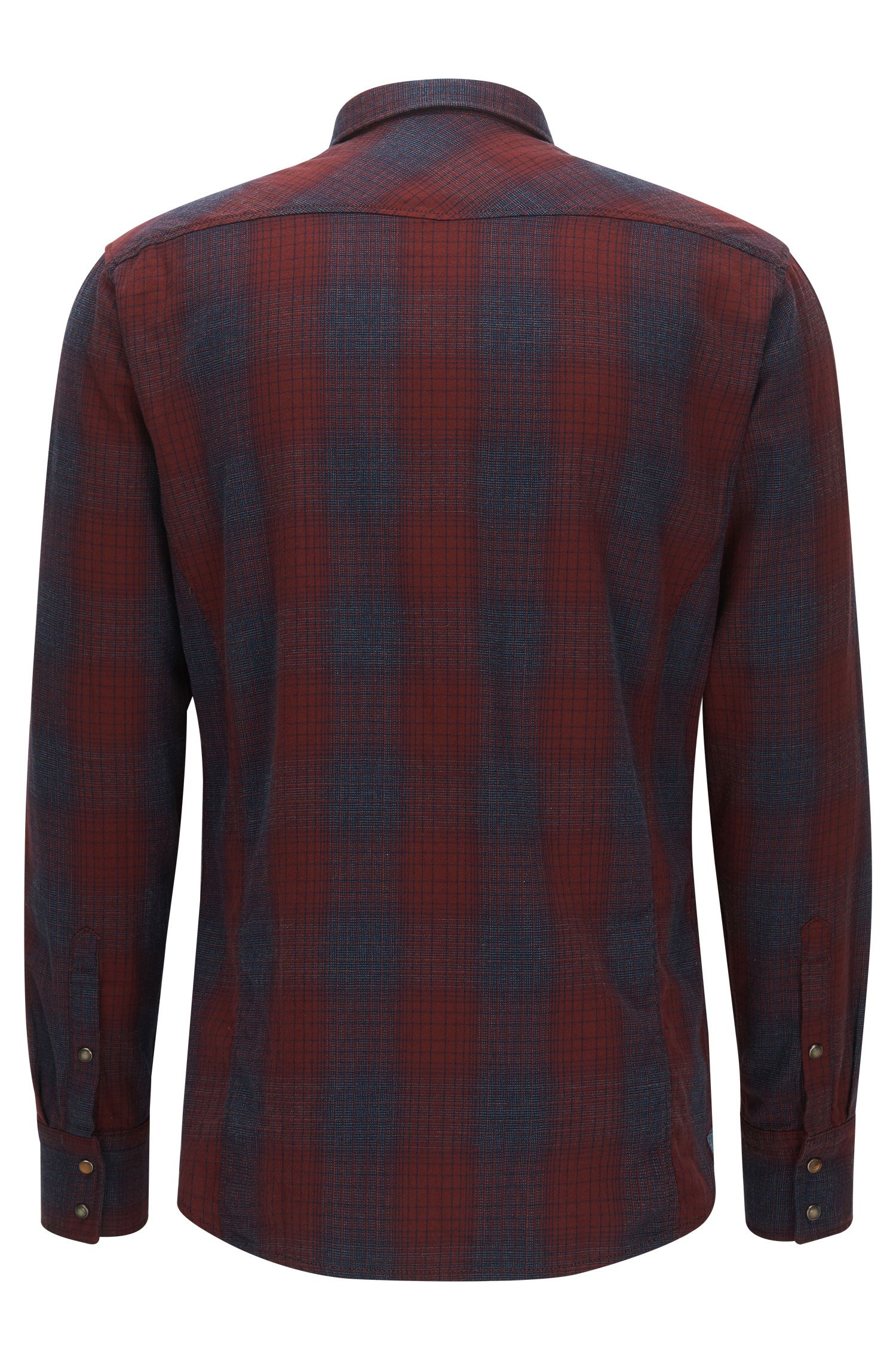 'Erodeo' | Slim Fit, Plaid Stretch Cotton Button Down Shirt