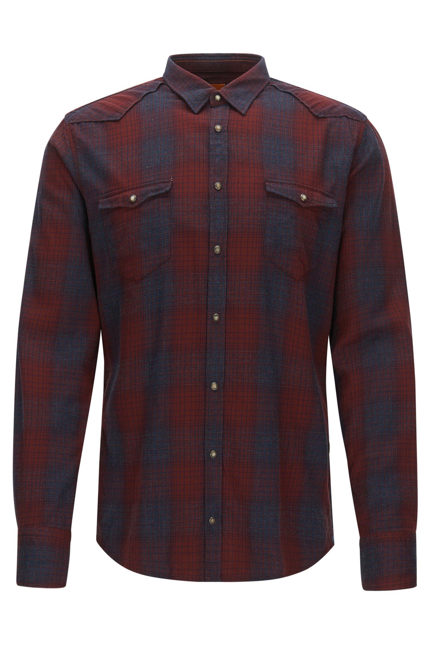 'Erodeo' | Slim Fit, Plaid Stretch Cotton Button Down Shirt