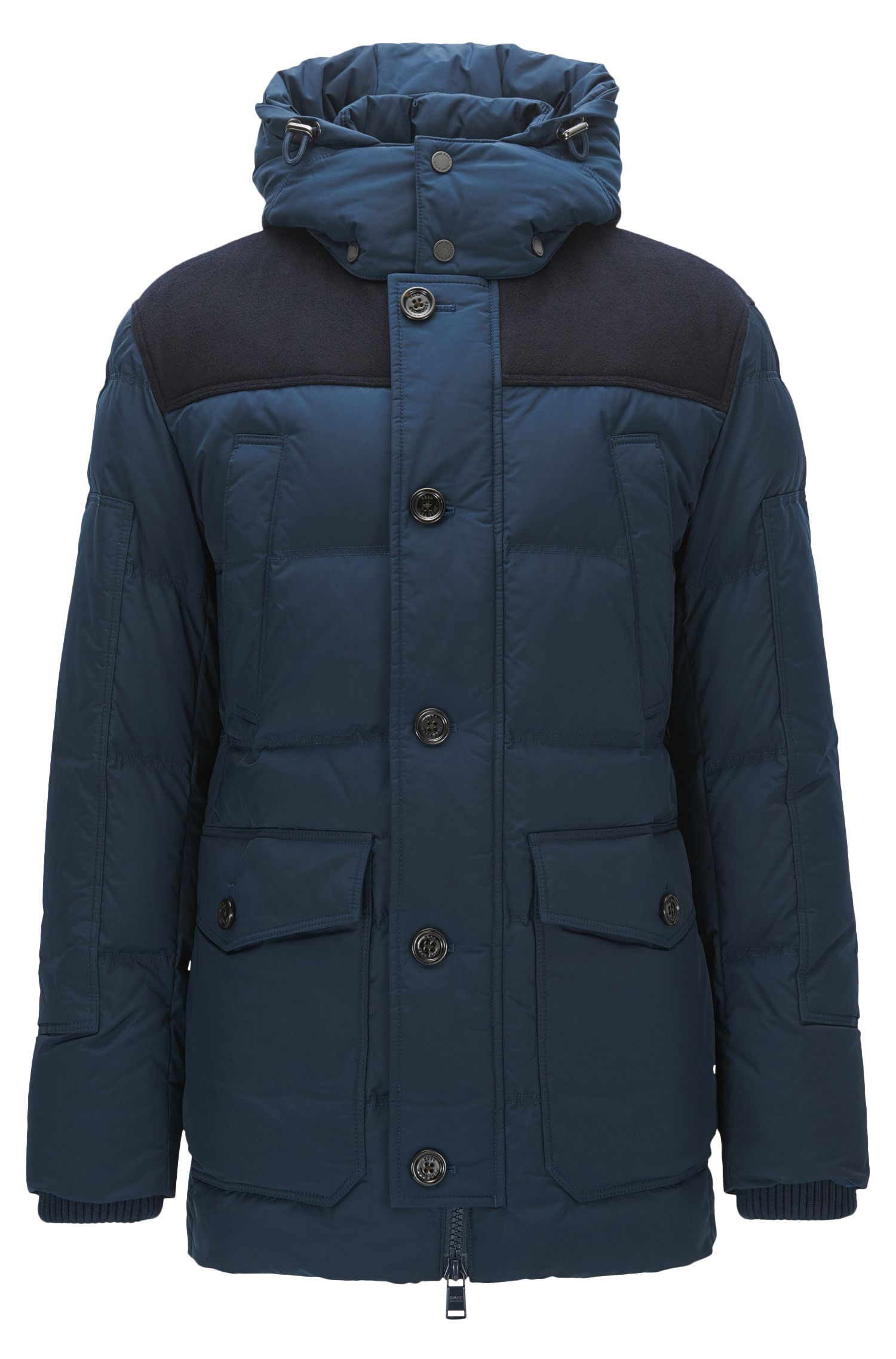 Wind-Resistant Down Parka | Donnie, Dark Blue