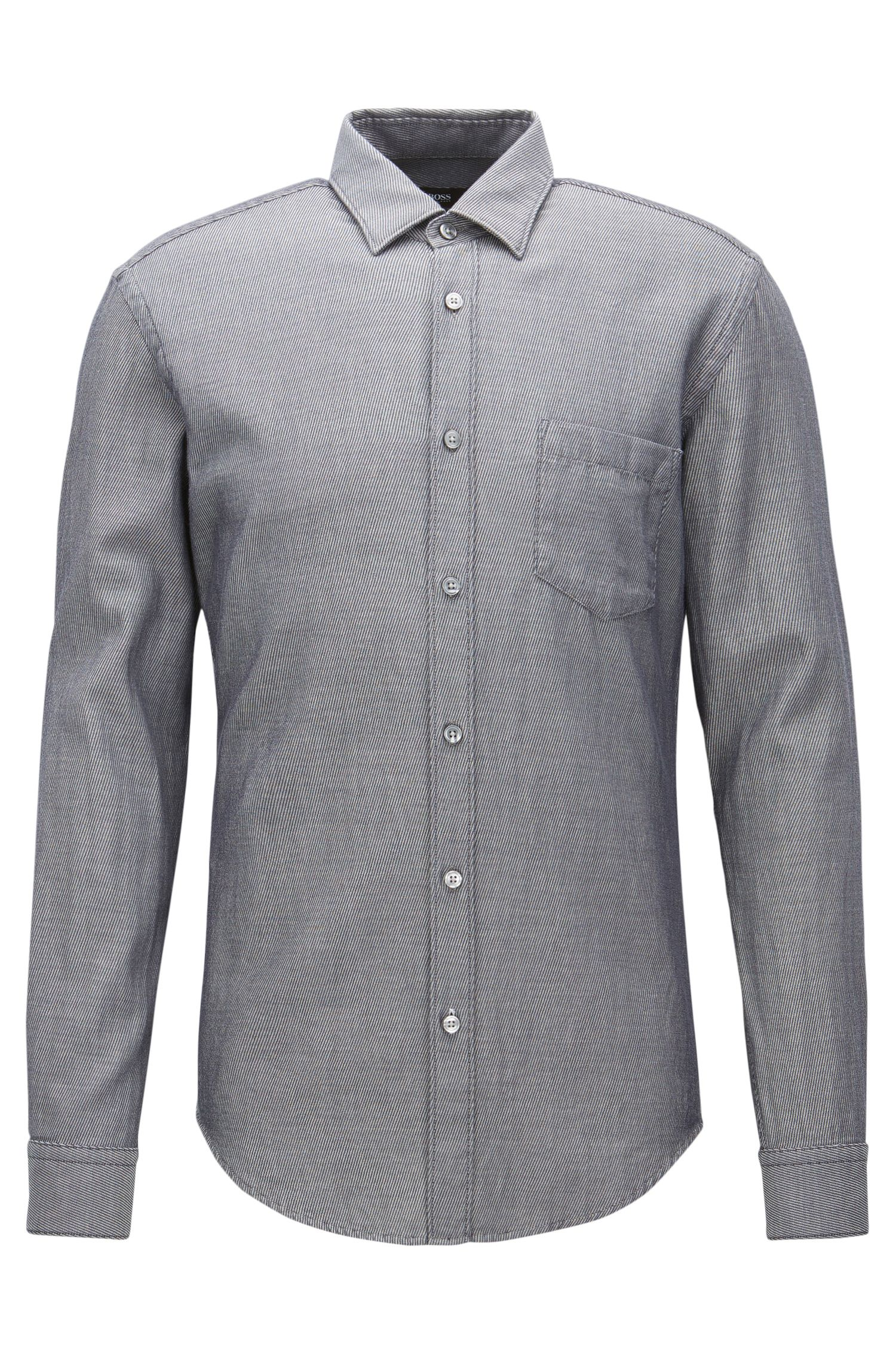'Ronni P' | Selvidge Denim Twill Button Down Shirt