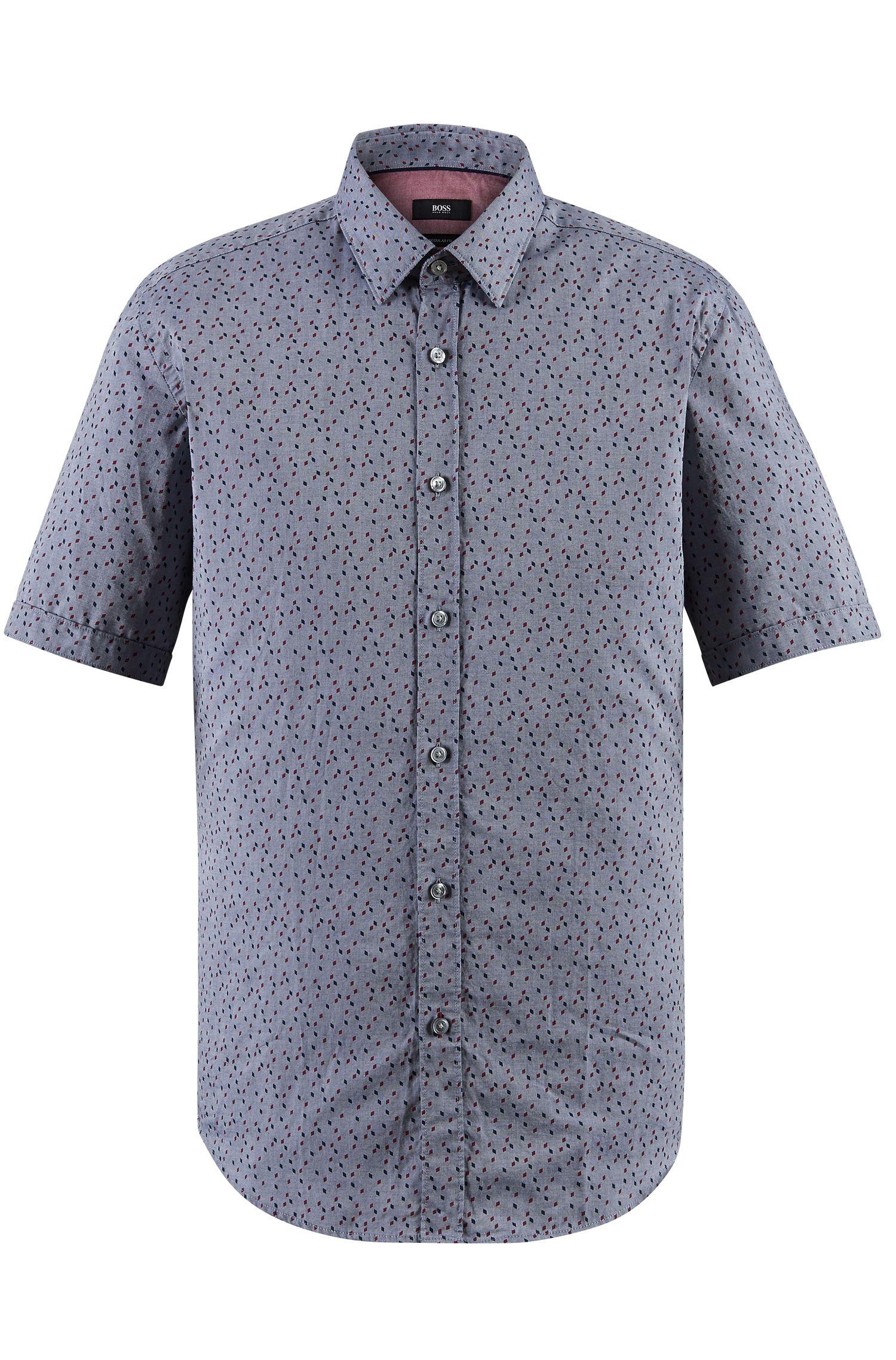 Patterned Cotton Button Down Shirt Regular Fit   Lukas