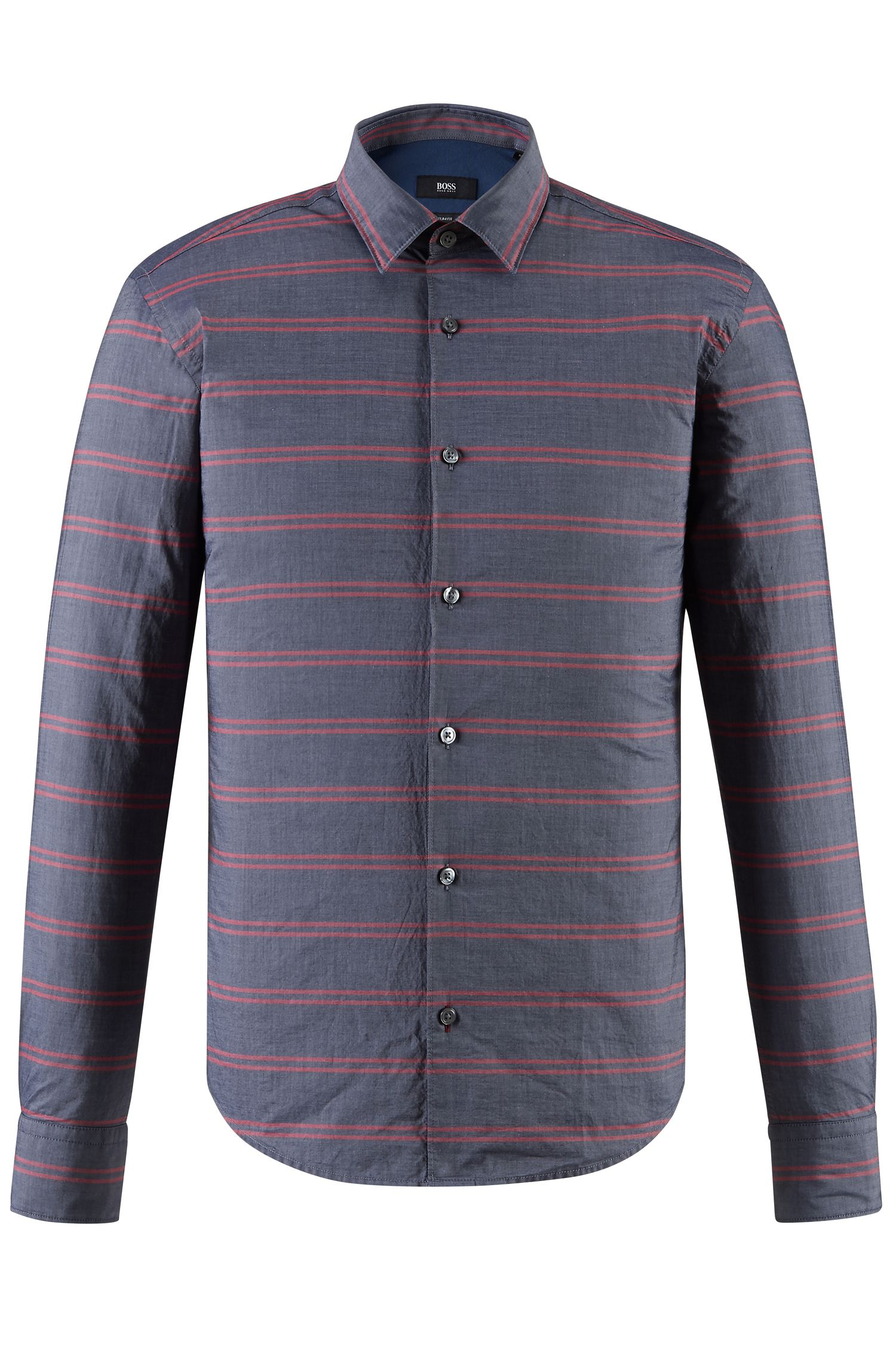 Striped Cotton Button Down Shirt, Slim Fit | Reid F
