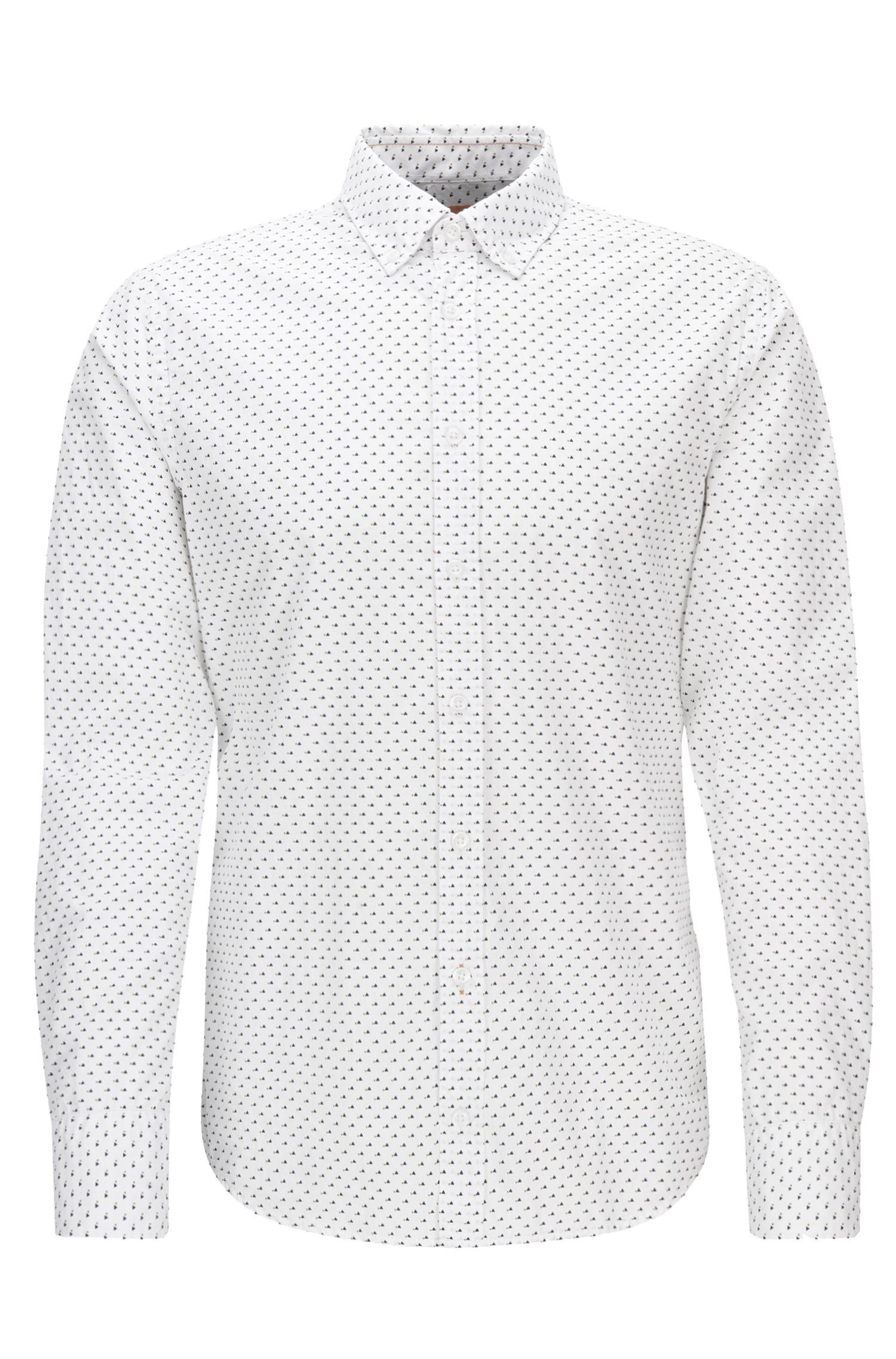 'Epreppy'   Slim Fit, Geometric Cotton Button Down Shirt