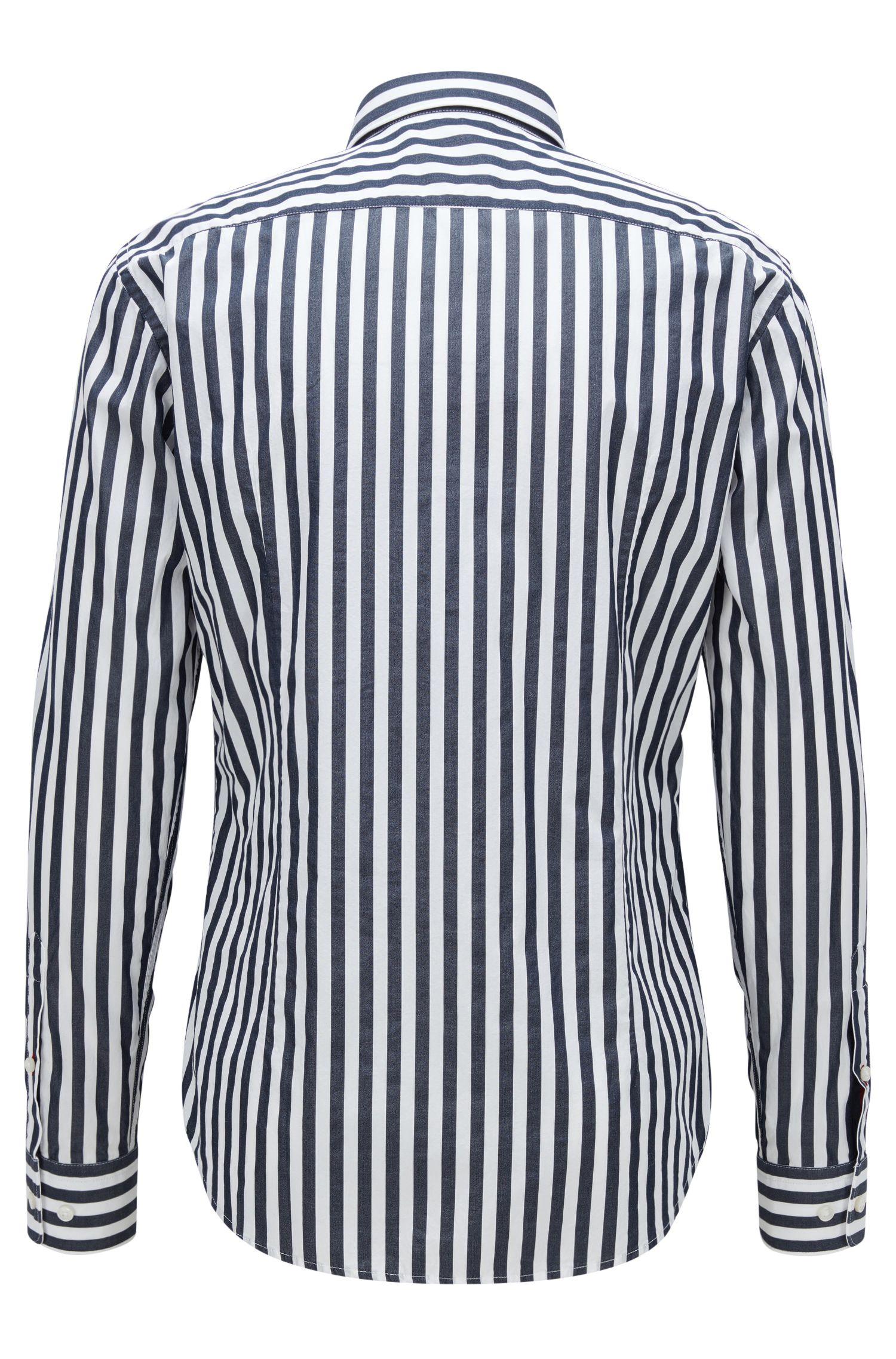 Cotton Button Down Shirt, Slim Fit | Ronni