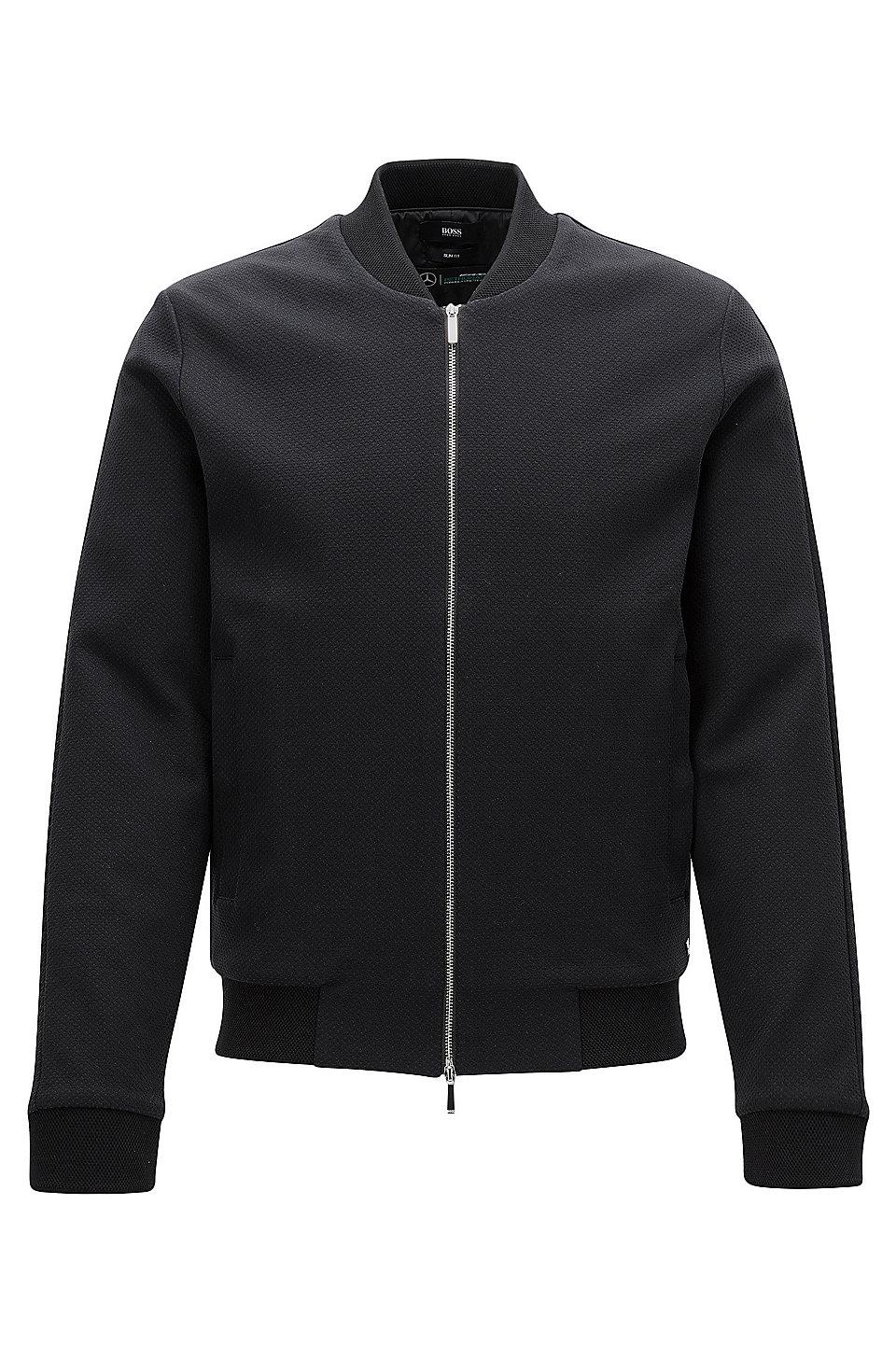 Boss mercedes benz cotton zip jacket soule for Mercedes benz leather jacket