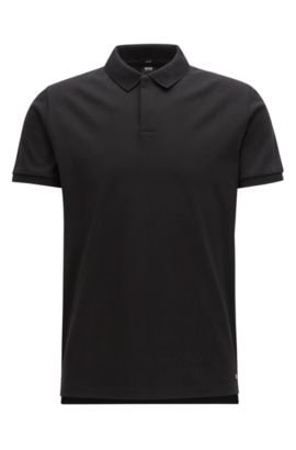 Mercedes-Benz Cotton Polo Shirt, Slim Fit | Pollard, Black