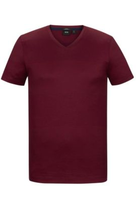 Striped Mercerized Cotton T-Shirt | Teal, Red