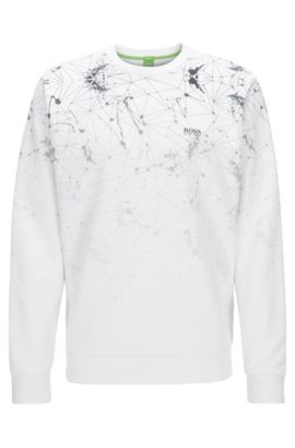 Stretch Cotton Sweatshirt | Swelock, White
