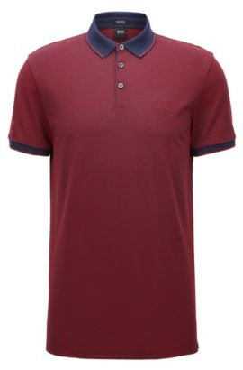Cotton Polo Shirt, Regular Fit | Prout, Red