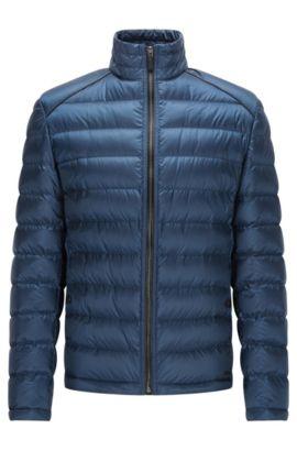Quilted Nylon Puffer Jacket | Banic, Dark Blue