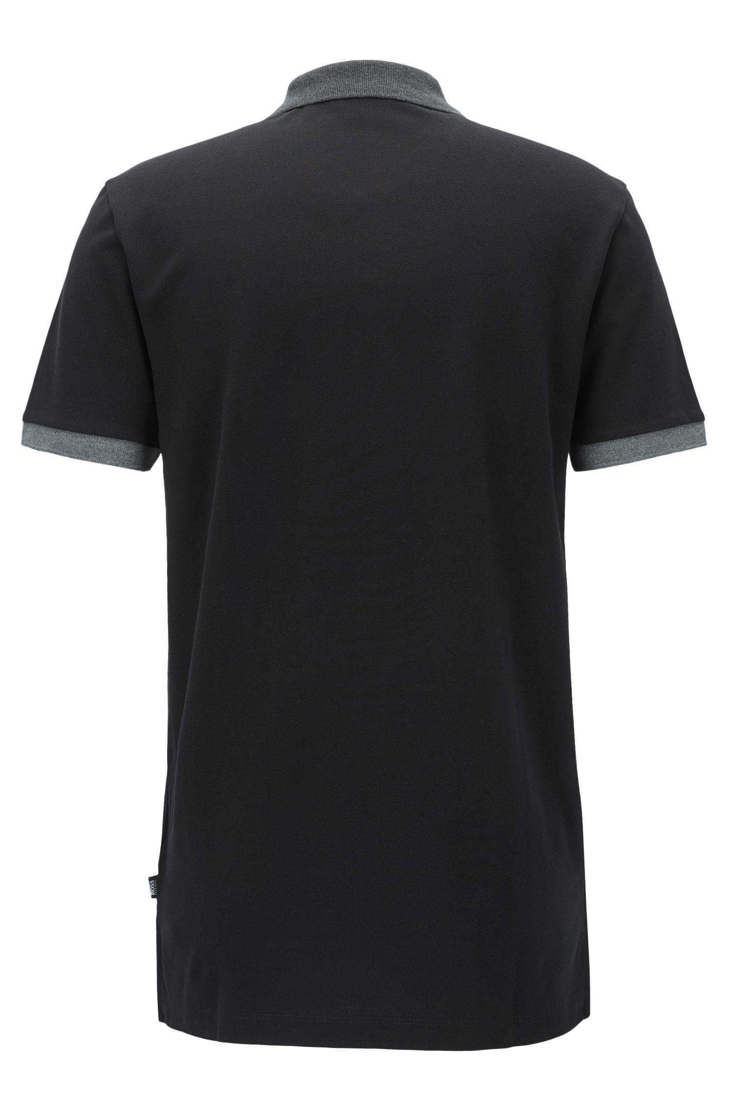 Piqué Pima Cotton Polo Shirt, Regular Fit | Parlay, Black