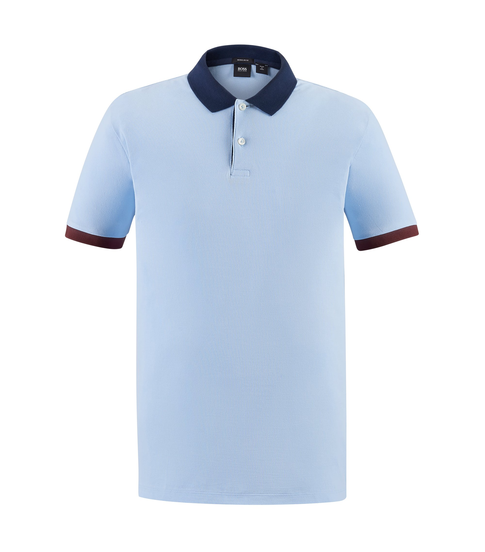 Piqué Pima Cotton Polo Shirt, Regular Fit | Parlay, Dark Blue
