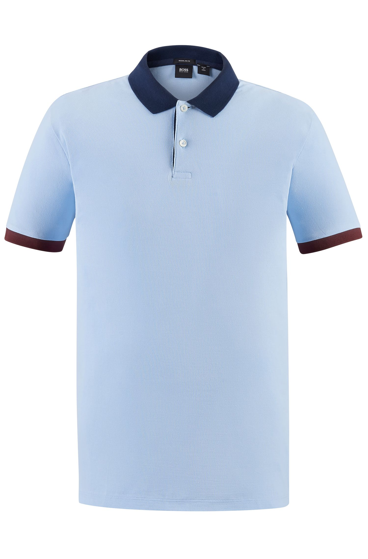 Piqué Pima Cotton Polo Shirt, Regular Fit | Parlay