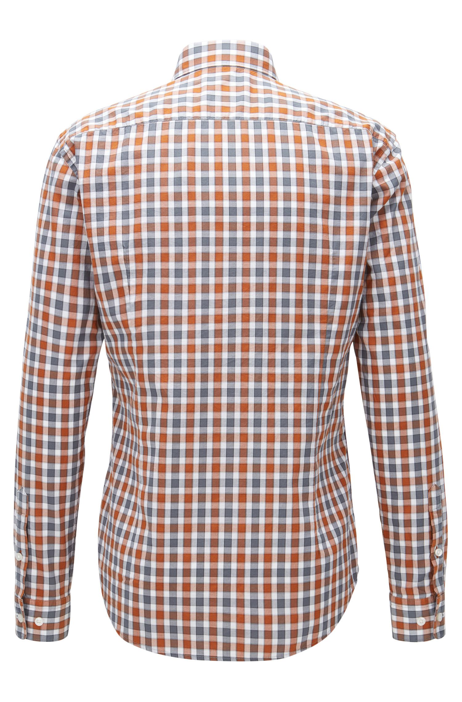 Plaid Cotton Button Down Shirt, Slim Fit | Rod