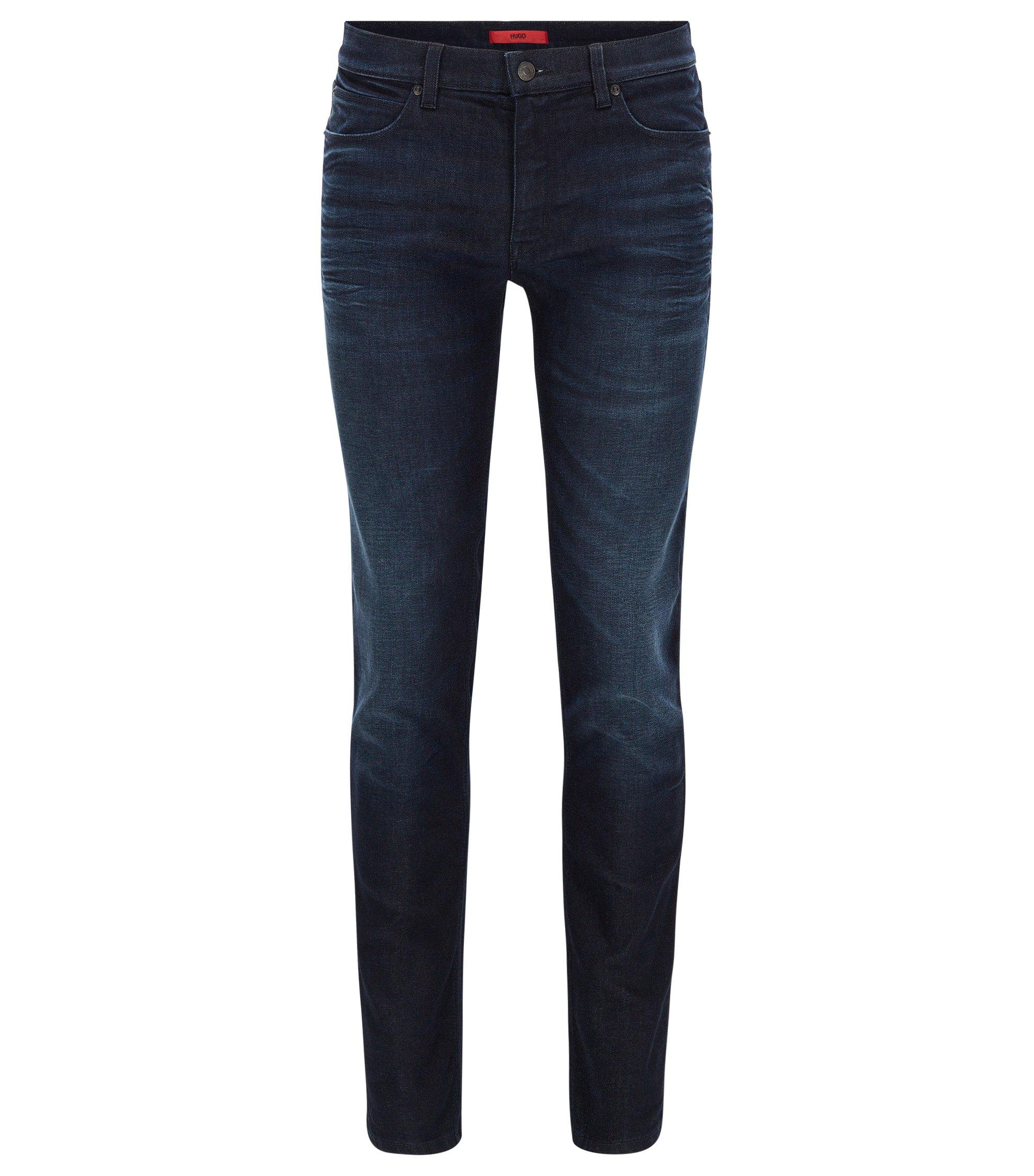Stretch Cotton Jeans, Slim Fit | HUGO 708, Dark Blue