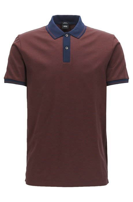 boss mercerized cotton polo shirt slim fit phillipson