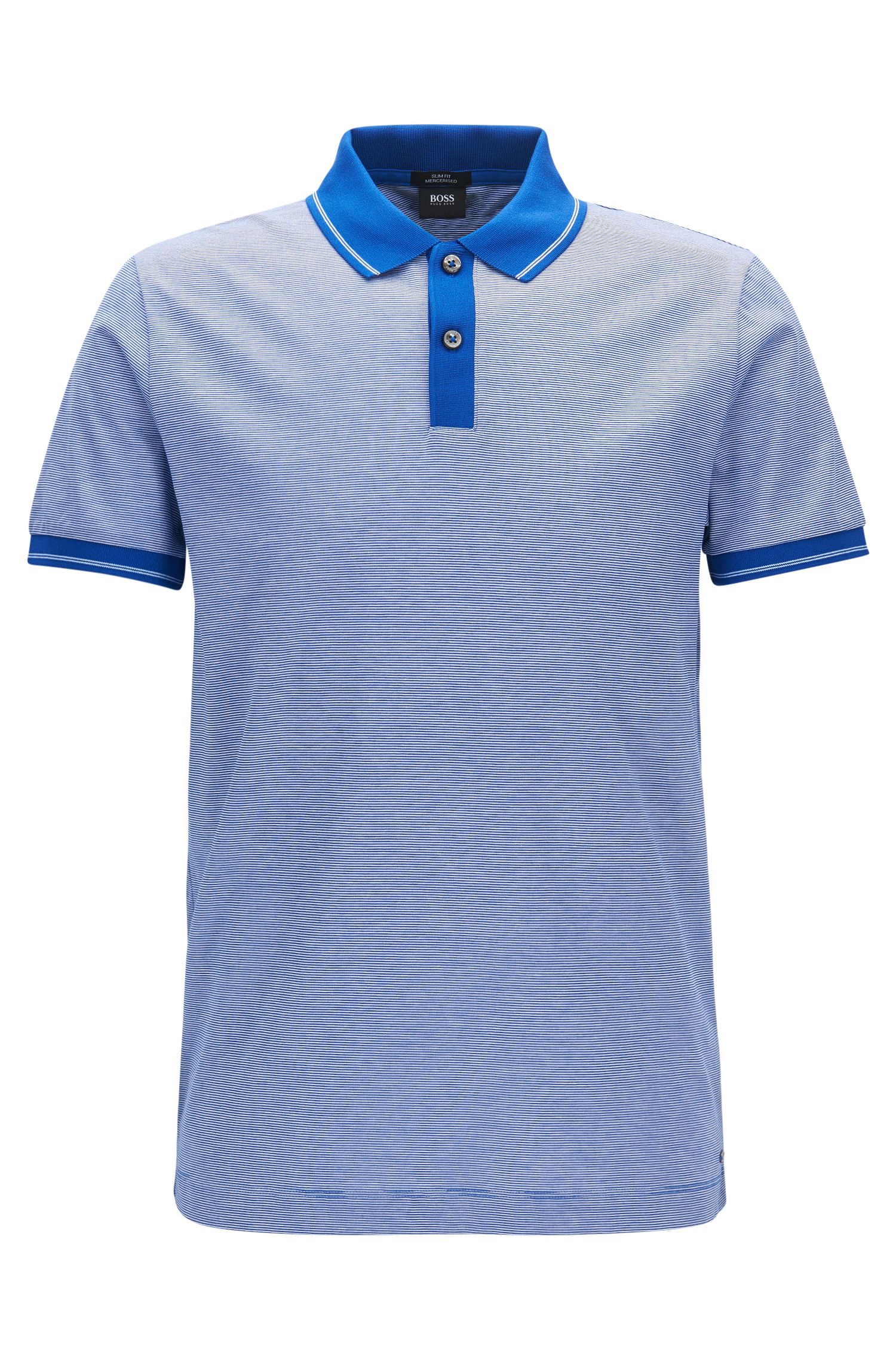 Mercerized Cotton Polo Shirt, Slim Fit | Phillipson
