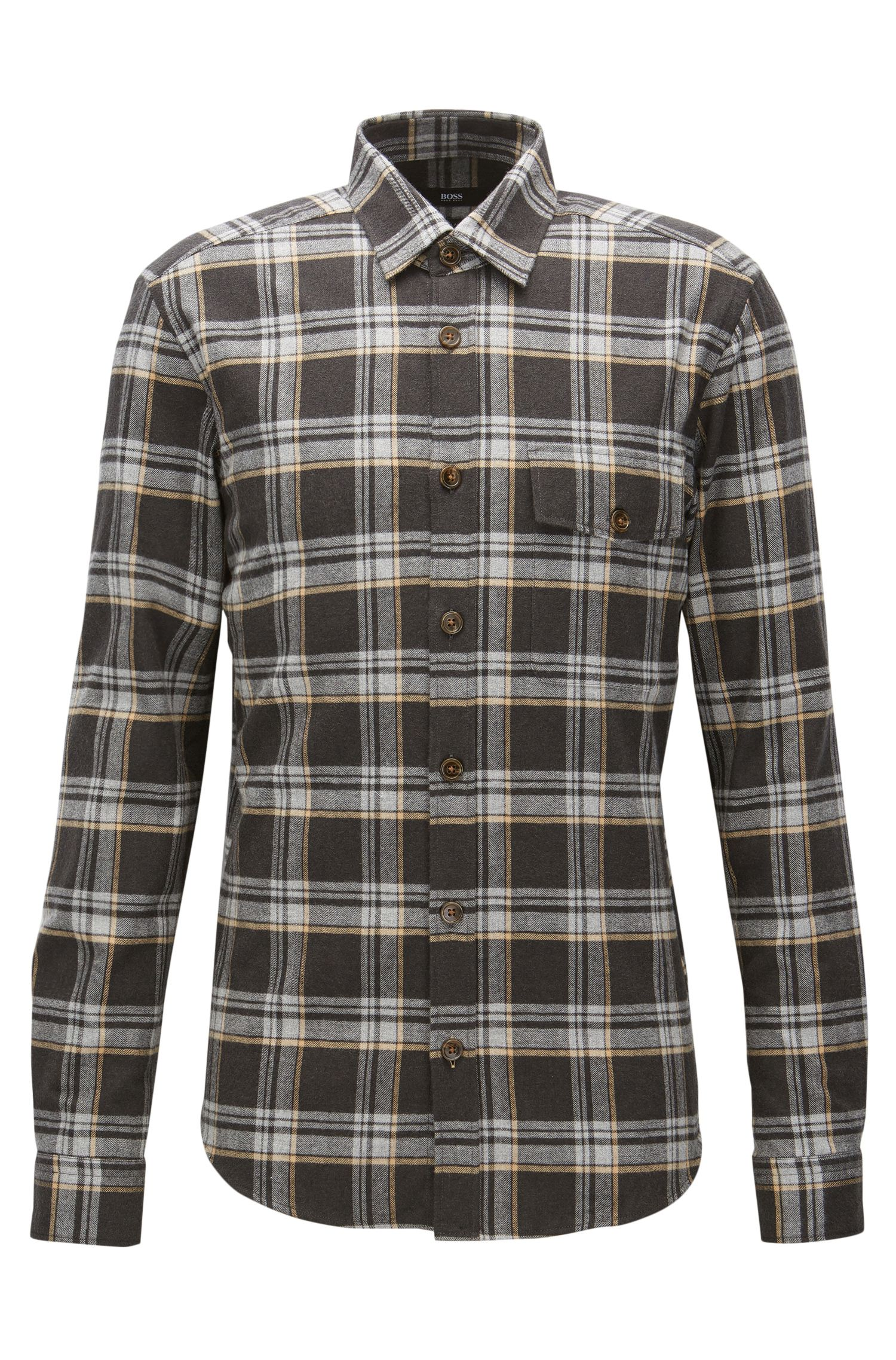 'Lalo' | Regular Fit, Plaid Cotton Button Down Shirt