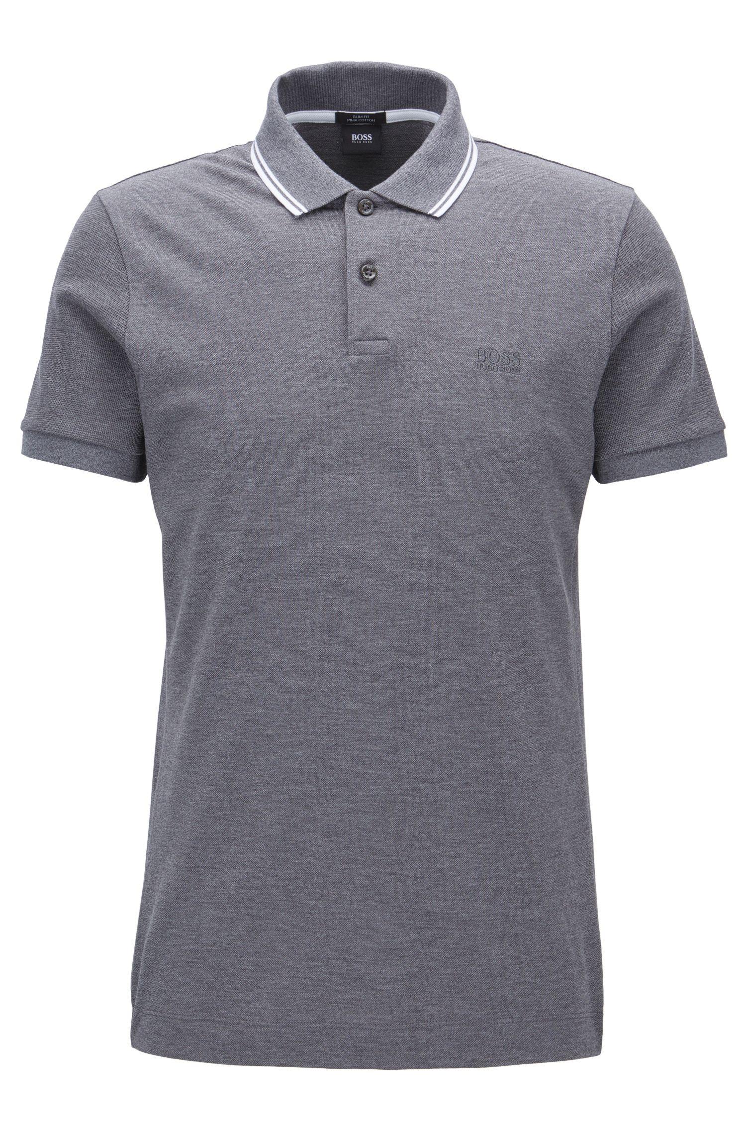 Piqué Pima Cotton Polo Shirt, Slim Fit | Phillipson