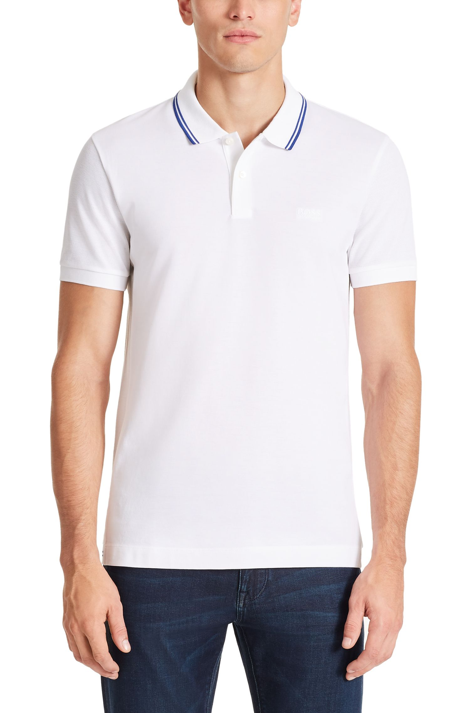 Piqué Pima Cotton Polo Shirt, Slim Fit   Phillipson