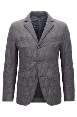 'Jord' | Nylon Quilted Jacket, Grey