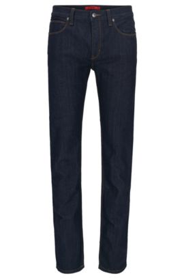 'HUGO 708' | Slim Fit, Stretch Cotton Jeans, Dark Blue