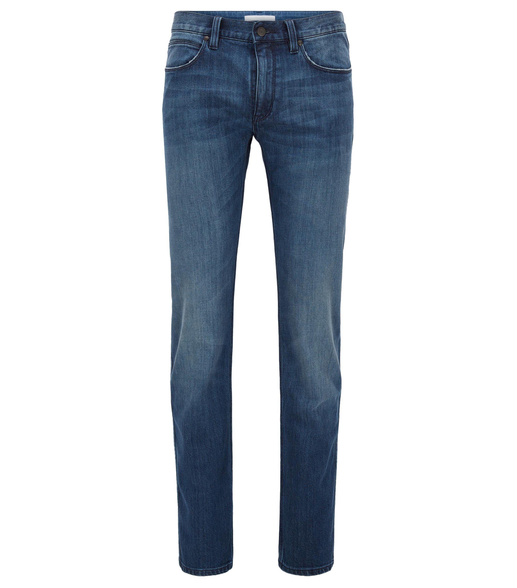 Stretch Cotton Blend Jeans, Slim Fit | HUGO 708, Dark Blue