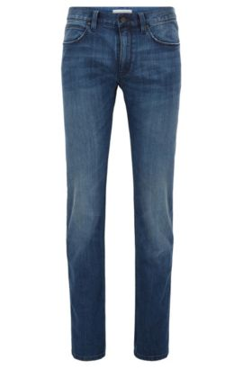 'HUGO 708' | Slim Fit, Stretch Cotton Blend Jeans, Dark Blue
