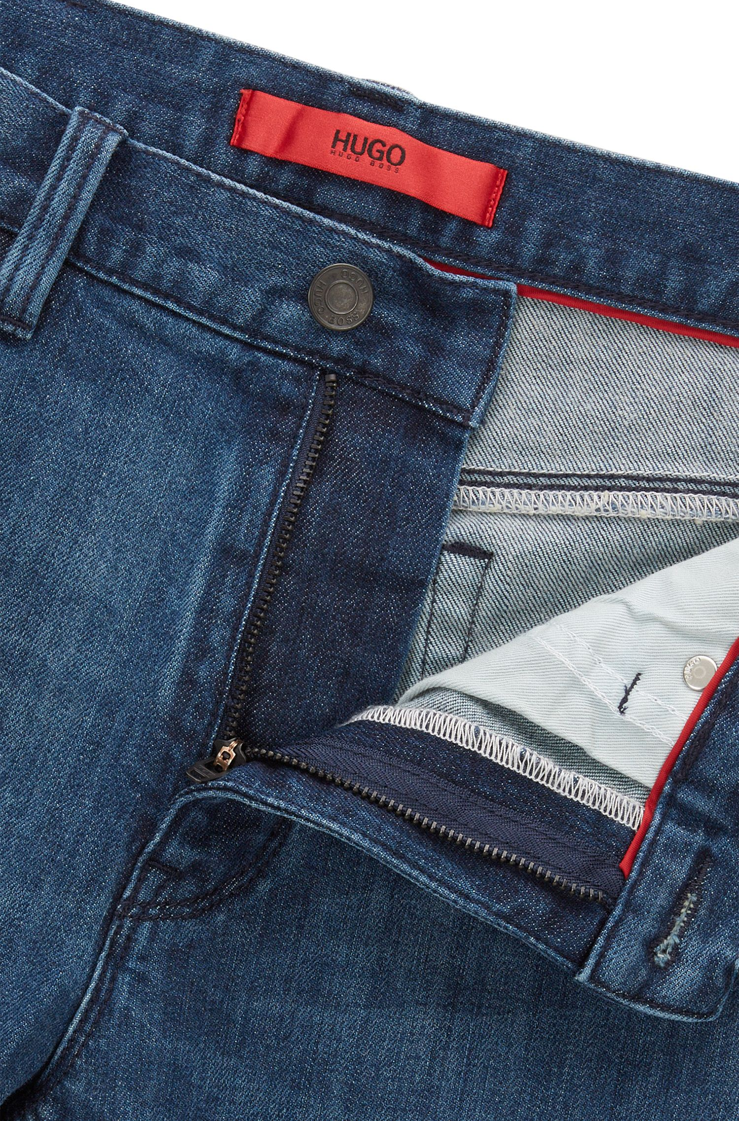 Stretch Cotton Blend Jeans, Slim Fit | HUGO 708