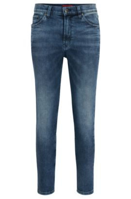 11.5 oz Stretch Cotton Jeans, Slim Fit | Hugo 332, Blue