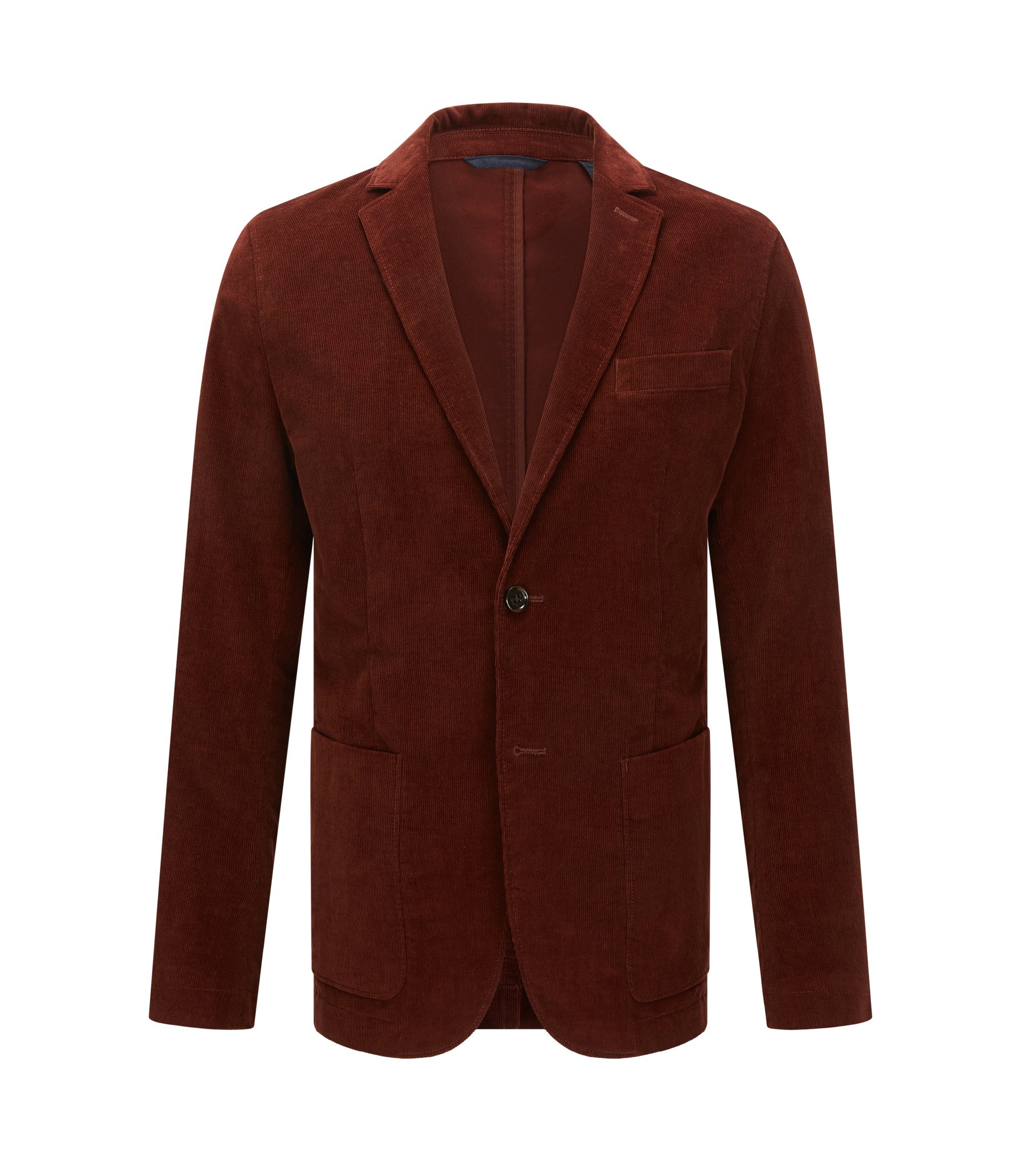 Stretch Corduroy Sport Coat, Slim Fit   Nortens W, Brown