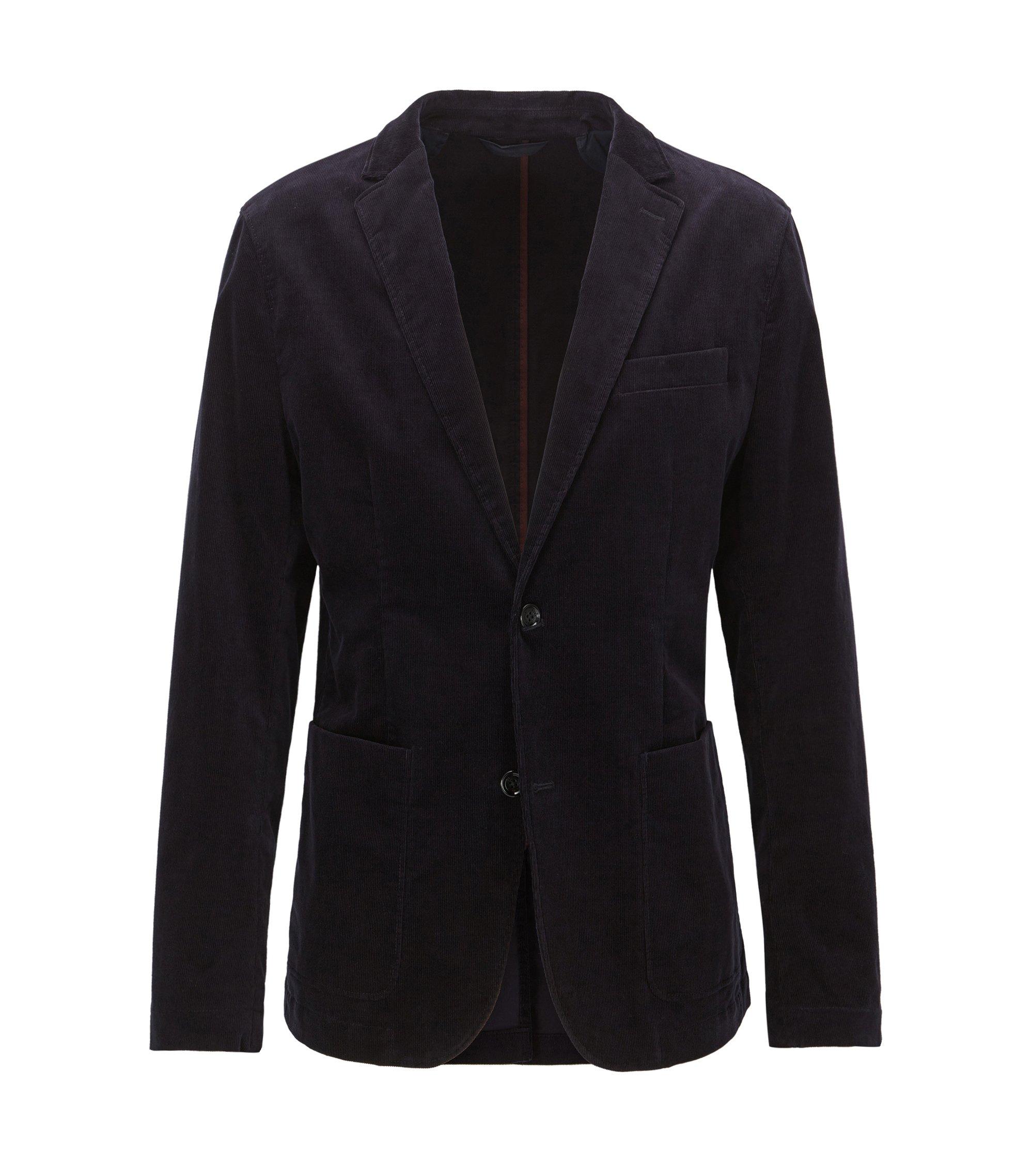 Stretch Corduroy Sport Coat, Slim Fit   Nortens W, Dark Blue