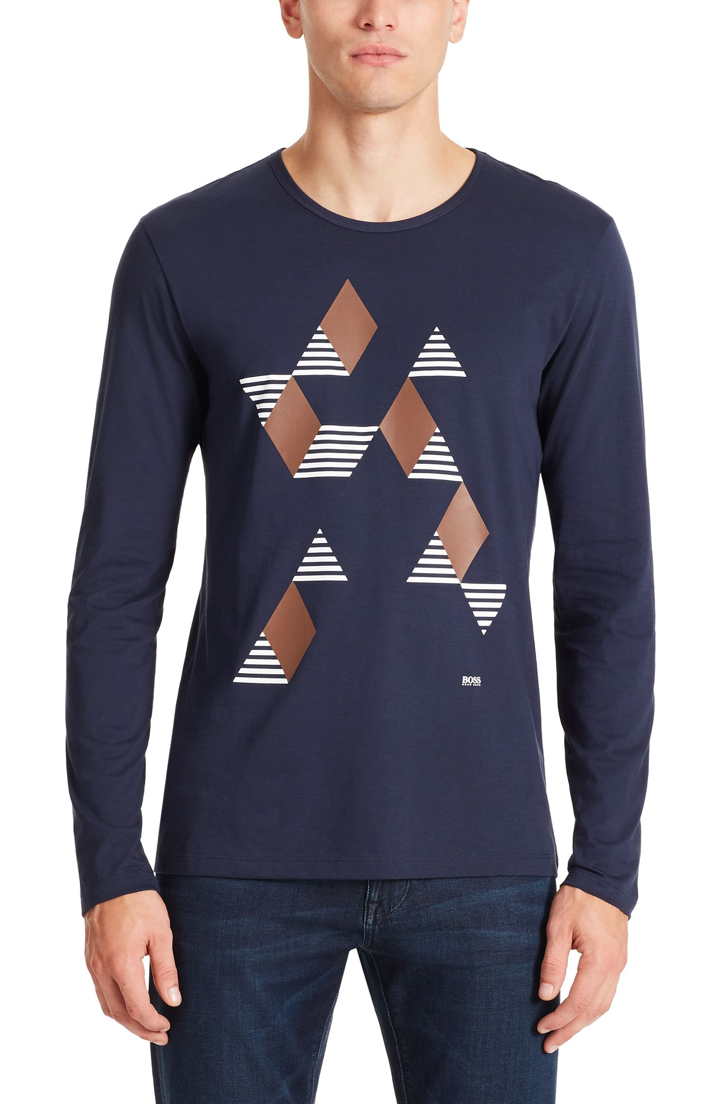 Cotton Graphic T-Shirt | Tenison, Dark Blue