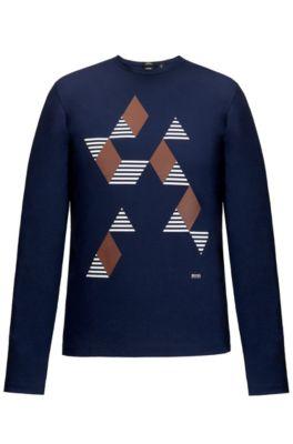Cotton Graphic T-Shirt | Tenison, Dark Blue
