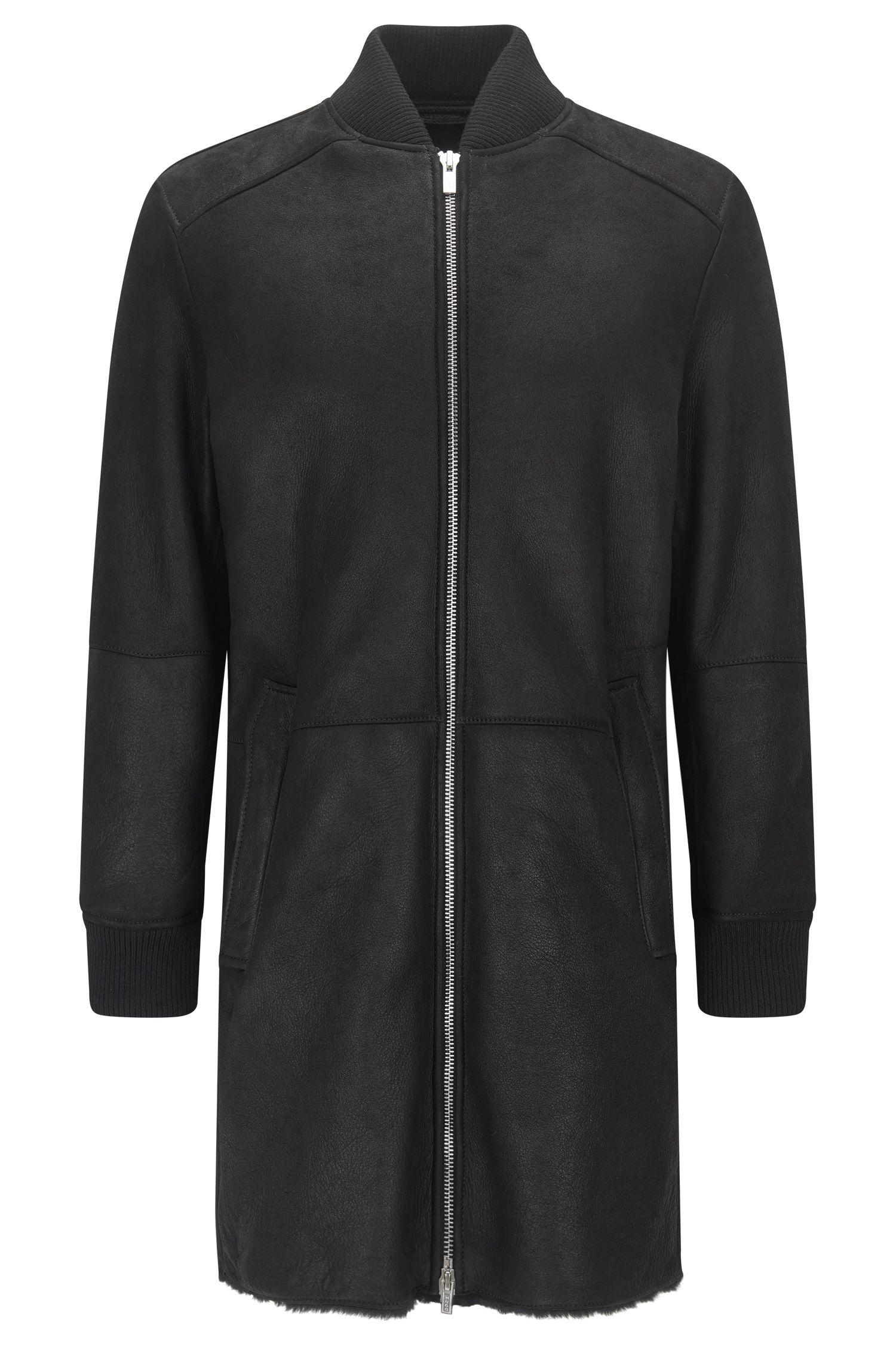 Suede Long Coat, Slim Fit | Leronn
