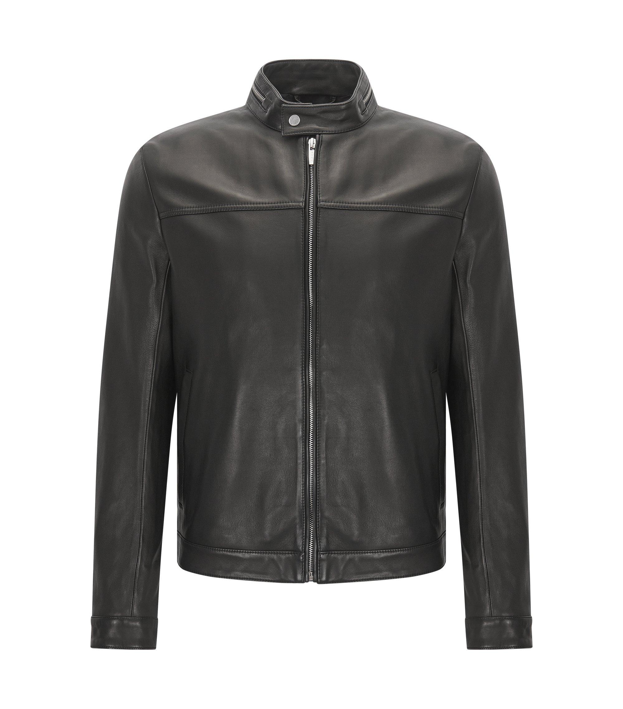 Lamb Leather Jacket | Luckas, Black