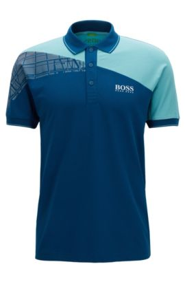 Stretch Cotton Polo Shirt, Regular Fit | Paddy Pro, Open Blue